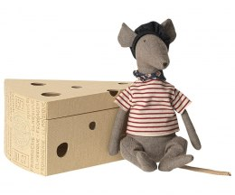 Myszka Rat in cheese Box Grey / Maileg