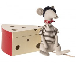 Myszka Rat in cheese Box Light grey / Maileg