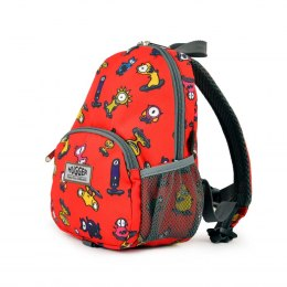 Plecak Totty Tripper - Small Monster Skaters Red 1+ / Hugger