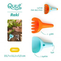 Zestaw Łopatka i Grabki Raki Vintage Blue Mighty Orange / Quut