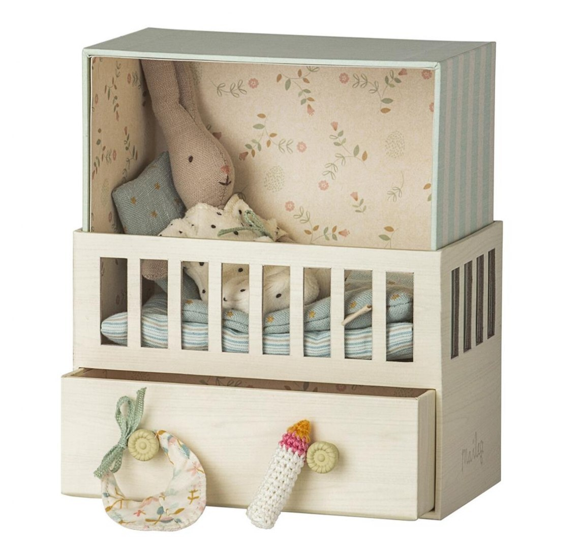 Królik w pokoiku Baby Room with Micro Rabbit / Maileg